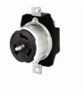 Single Locking, California Style Receptacle Black 50A 125/250V 3P -- 78358582810-1