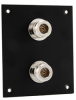 Universal Rack Mount Sub-Panel with 2 N-Type 50 Ohm Couplers installed -- REF00279 -Image