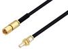 SSMC Plug to SSMC Jack Bulkhead Cable 48 Inch Length Using PE-SR405FLJ Coax -- PE3C4442-48 -Image