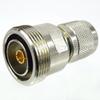 7/16 DIN Female (Jack) to HN Male (Plug) Adapter, Nickel Plated Brass Body, High Temp, 1.5 VSWR -- SM4643 - Image