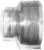Contain-It™ Clear PVC Couplings - Reducing, Split (SxS) - Image