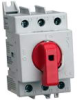 DISCONNECT SWITCH, NON-FUSIBLE, 63A, RED HANDLE, 3P, 600 VAC, UL 508 -- SD2-063-RR