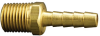 Fisnar 560737 Brass Straight Barbed Fitting 0.25 in NPT Male x 0.25 in I.D. Tube -- 560737 -Image