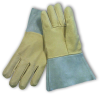 PIP 75-320 Gray/Tan Medium Grain, Split Cowhide, Pigskin Leather Welding Glove - Straight Thumb - 11.5 in Length - 616314-10606 -- 616314-10606