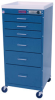 Mini-Line Six Drawer Cart with Mechanical Combination L.. -- 3156M -- View Larger Image