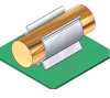 Component clip, black PVC, screw mt, .31 holding dia -- 70208817 -- View Larger Image