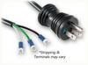 NEMA 5-15P HG BLACK to ROJ SPECIAL HOME • Power Cords • Hospital Grade Power Cords • Black Plugs And Connectors -- 0302.300BS -Image