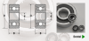 Modified Dimension Radial Shielded Flanged & Unflanged Miniature Specialty Bearing -- View Larger Image