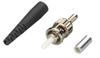 Fiber Optic Connector, Ceramic Ferrule, ST Multimode Simplex, 126-µm/2.0-mm -- FOT204