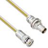 Teflon Jacket Cable Assembly TRB 3-Slot Plug to Non-Insulated Bulk Head 3-Lug Cable Jack .236