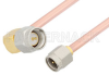 SMA Male to SMA Male Right Angle Cable 6 Inch Length Using RG402 Coax, RoHS -- PE3821LF-6 -Image
