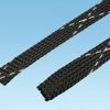 Braided Expandable Sleeving Black Flame Retardant Polyethylene Terephthalate -- 07498320249-1 - Image