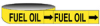 Economy Pipe Markers-To-Go (Black on Yellow; FUEL OIL; 1
