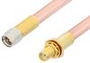 SMA Male to SMA Female Bulkhead Cable 60 Inch Length Using RG401 Coax, RoHS -- PE34256LF-60 -Image