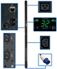 TAA Compliant Single-Phase Monitored PDU, 7.4kW 32A 230V, 0U Vertical Rackmount, 36 C13 & 6 C19 Outlets, IEC-309 32A Blue 2P+E Input Plug -- PDUMNV32HV2TAA