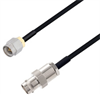 BNC Female to SMA Male Cable Assembly using LC085TBJ Coax, 1 FT -- LCCA30598-FT1 -Image