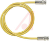 Cable; 60 in.; 20 AWG; Triaxial Conductors; Non Booted; Yellow; UL Listed -- 70198412