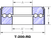 T-200-RG: Enclosed, Double Grooved Raceways Thrust Bearing -- 402