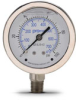 0-100 psi Liquid filled Pressure Gauge with 2.5 inch mechanical dial -- G25-SL100-4LS - Image