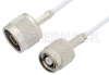 N Male to Reverse Polarity TNC Male Cable 12 Inch Length Using RG188 Coax -- PE35243-12 -Image