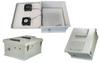 18x16x08 Fiberglass Polyester FRP Weatherproof Outdoor IP24 NEMA 3R Enclosure, 120 VAC MNT PLT, User Adjustable Thermostat Heat & Fan Gray -- TEF181608-1HFA2 -Image