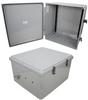 18x16x10 Polycarbonate Weatherproof Outdoor IP66 NEMA 4X Enclosure, DIN Rail MNTs DKGY -- TEPC181610-000DR -Image