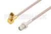 SMA Female to SSMC Plug Right Angle Cable 12 Inch Length Using RG316 Coax -- PE3C4410-12 -Image