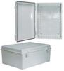 14x10x06 ABS Plastic Weatherproof Outdoor IP66 NEMA 4 Enclosure, Gray -- TEP141006 -Image