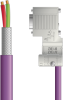 LAPP UNITRONIC® PROFIBUS® D-Sub Cordset to terminator Module - Wire Leads to D-sub terminator - Violet PVC - Stationary - 1m -- OLFPB4110140S01 -Image