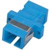 Fiber Optic Coupling, SC-SC, Rectangular Mounting, Single-Mode, Simplex, Ceramic Sleeve, Plastic Flange -- FOT119