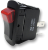 Rectangle Rocker Switch 44124, On-Off, SPST, 3 Contacts -- 44124 - Image