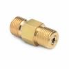 Male Quick-test x male Quick-test hose union, brass -- QTHA-HSHS