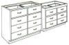 Standard Steel Laboratory Cabinet, Split Drawer Unit -- 080 Series - Image