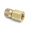 """G 1/2"""" female BSPP (ISO 228/1) x female Quick-test, no check-valve, brass -- QTHA-4FBA-RG -- View Larger Image"""