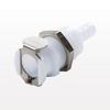 PLC Series Coupling Body, Straight Thru Acetal Panel Mount Hose Barb -- PLC16004 -Image