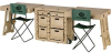 Pelican Field Desk with 2 Tables & 2 Chairs - Olive Drab -- PEL-472-FLD-DESK-DD-137 -Image
