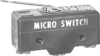 MICRO SWITCH YA Series Standard Basic Switch, Single Pole Normally Open Circuitry, 20 A at 250 Vac, Straight Lever Actuator, 2,5 N [9 oz] Maximum Operating Force, Silver Contacts, Screw Termination, U -- YA-2RL-A6 -Image