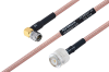 MIL-DTL-17 SMA Male Right Angle to TNC Male Cable 18 Inch Length Using M17/60-RG142 Coax -- PE3M0027-18 -- View Larger Image