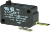 MICRO SWITCH V7 Series Miniature Basic Switch, Single Pole Normally Open Circuitry, 15 A at 250 Vac, Pin Plunger Actuator, 150 gf Maximum Operating Force, Silver Contacts, Quick Connect Termination, C