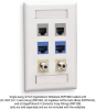 6-port Office White Single-Gang Keystone Wallplate, 10-Pack -- WPT482 - Image