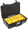 Pelican 1525 Air Case with Yellow Padded Dividers - Black | SPECIAL PRICE IN CART -- PEL-015250-0040-110 -Image