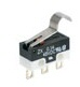MICRO SWITCH ZX Series Subminiature Basic Switch, SPDT, 48 Vdc, 0.1 A, Simulated Roller Lever Actuator, Solder Termination -- ZX10E10E01 -Image
