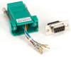 DB9 Colored Modular Adapter (Unassembled), Female to RJ-45, 8-Wire, Green -- FA4509F-GR
