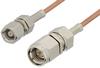 SMA Male to SMC Plug Cable 36 Inch Length Using RG178 Coax -- PE3561-36 -Image