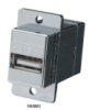 USB (Type A-Type B) Panel-Mount Coupler, Silver -- FAUSB31