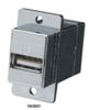 USB (Type A-Type B) Panel-Mount Coupler, Silver -- FAUSB31