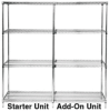 Q-Stor Chrome Wire Shelving -- WR74-1848