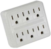 6 Outlet Wall Tap Two Input, AC125V/15A -- 2105-SF-02 -- View Larger Image