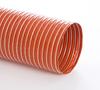 Single-Ply Iron Oxide Red Silicone Coated Fiberglass Fabric Hose -- Heat-Flex® BDS 6.0