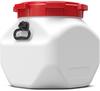 40 Liter Square Plastic Drum -- 7440